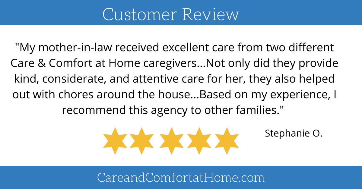 """""""My mother-in-law received excellent care from two different Care & Comfort at Home caregivers..."""" #seniorcare <br>http://pic.twitter.com/vGsRF4ir2O"""