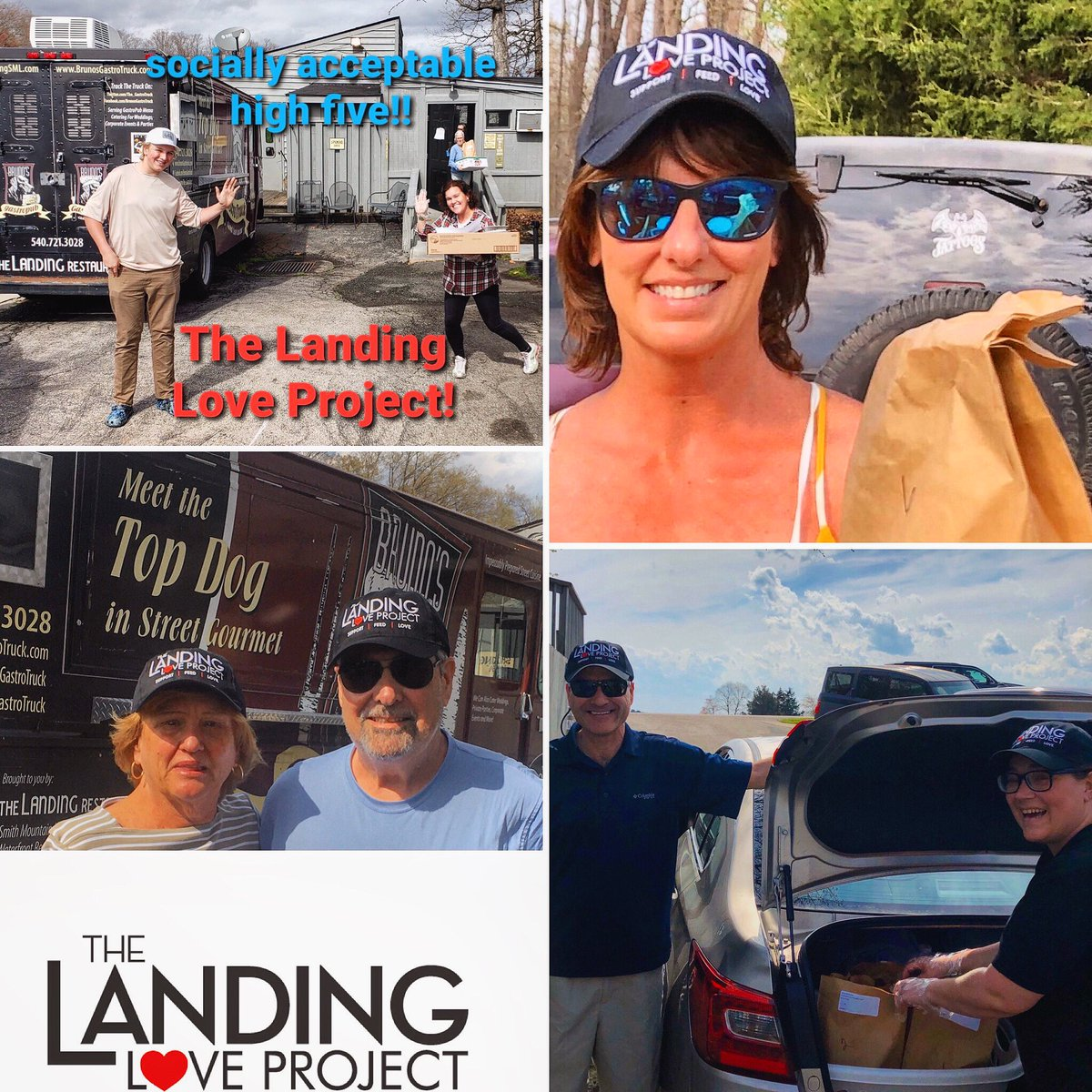 """""""The greatness of a community is most accurately measured by the compassionate actions of its members"""" - Coretta Scott King.  Today 300 meals to 68 families. #thelandingloveproject #spreadlove #community #strongertogether #SML #inthistogether #va #swva #chefsforamerica"""