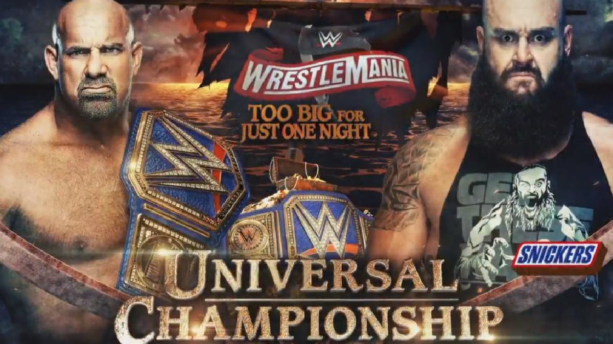 WWE Officially Announces Braun Strowman As Bill Goldberg's New WrestleMania 36 Opponent