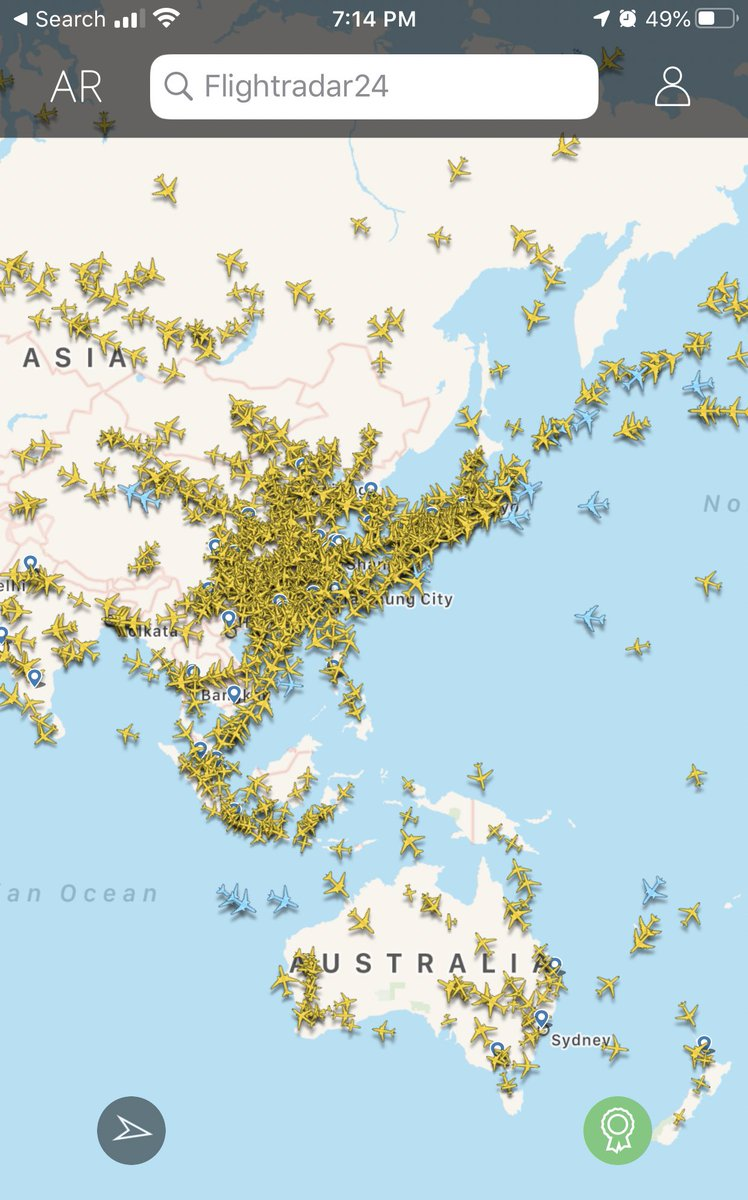 Flightradar24 is pretty interesting. You can identify flights overhead from planes to helicopters. So much activity.