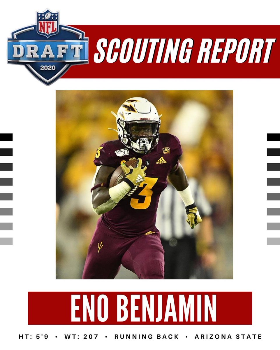 2020 NFL Draft Scouting Report: Eno Benjamin, Running Back from Arizona State University #ASU #asufootball #arizonastate #arizonastateuniversity #arizonastatefootball #NFL #NCAA #ESPN #Adidas #NFLDraft #NFLDraft2020 #NFLRedZone #NFLFreeAgency #NFLTwitter #Chargers #Rams #Chiefspic.twitter.com/X5XzcIHf3R