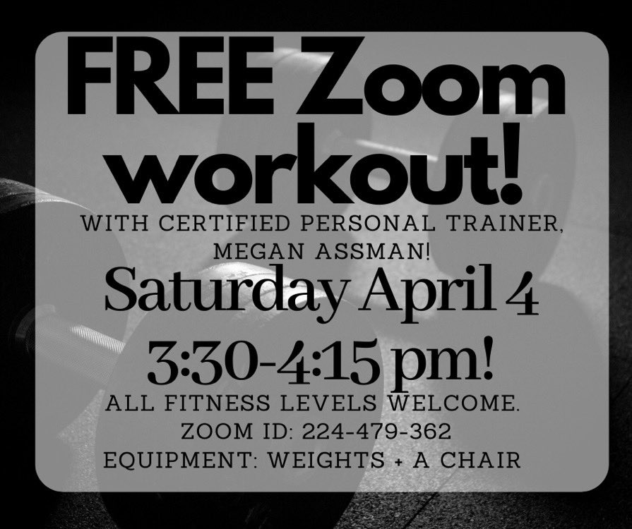 #LifestyleNOTaResolution If you've got cabin fever ... join this free zoom class tomorrow. 3:30 CST