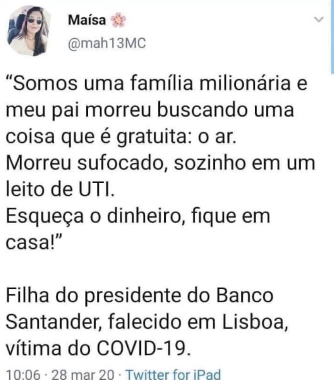 """SILVIA DE BONILLA / MUJER LEGAL's tweet - """"El presidente del Banco ..."""