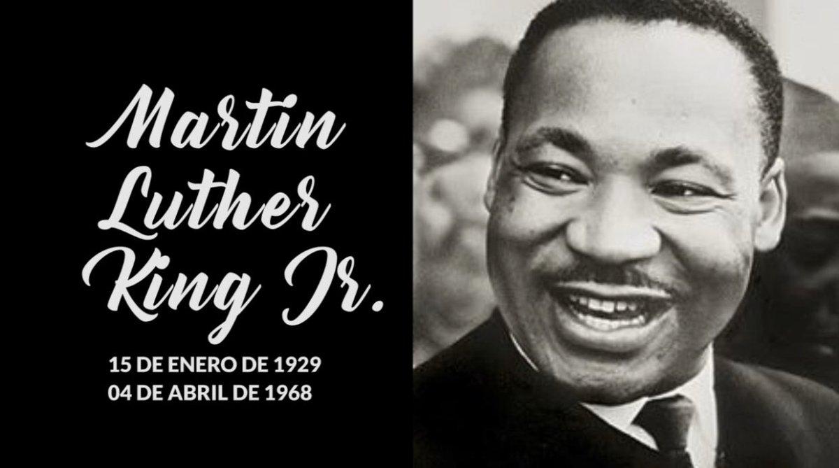 Hoy 4 de abril, nuestro respeto y honra al reconocido #PastorBautista y #Activista por los derechos de los afroamericanos, #MartinLutherKingJr  Premio Nobel de la #PAZ, lideró el #Boicot contra el transporte público segregacionista con acciones #pacíficaspic.twitter.com/SChrMk46cu