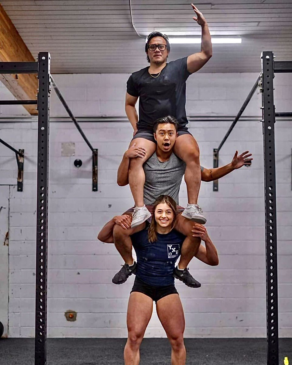 A tower of powerlifters! The difference between impossible and possible is a small woman's determination! http://FuturistSpeaker.com #keynotespeaker #futuretrends #futureofwork #futurejobs #futuriststrategypic.twitter.com/VlQEBB2G0H