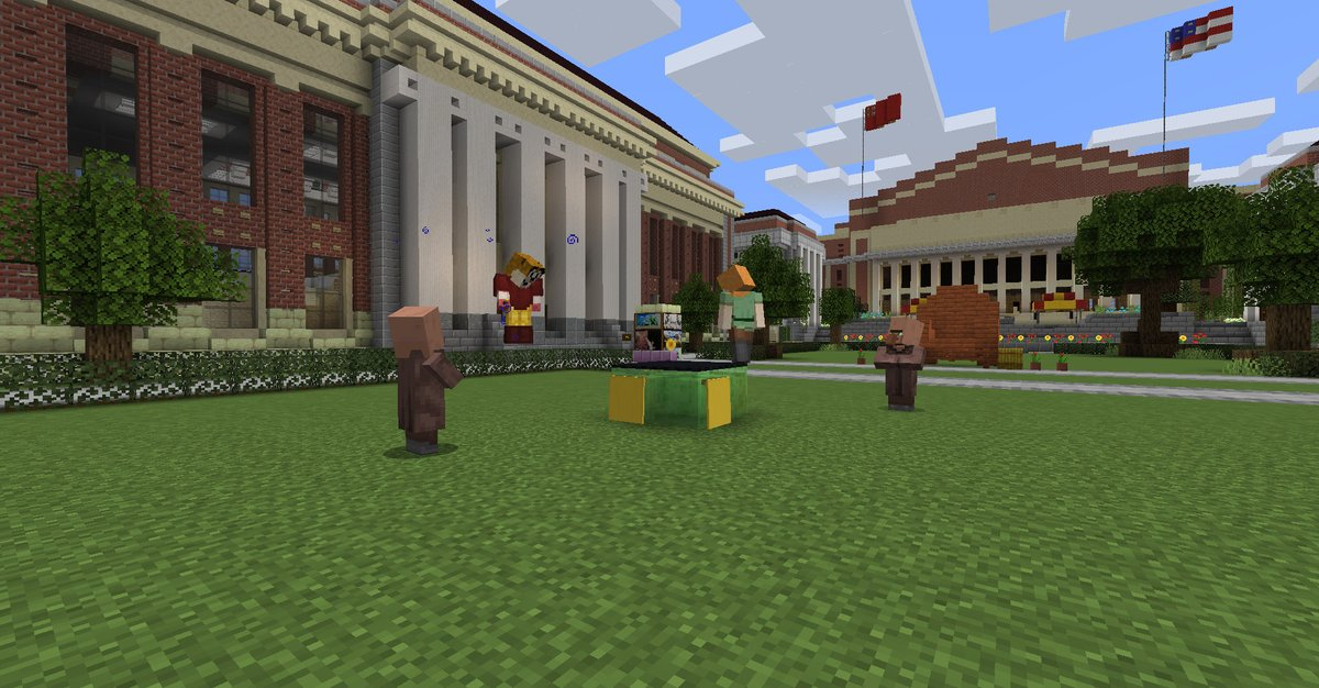 Campus is closed, so college students are rebuilding their schools in Minecraft