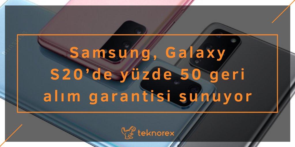 Samsung, Galaxy S20'de yüzde 50 geri alım garantisi sunuyor  https://bit.ly/2JBUZLhpic.twitter.com/v92BnJvjml