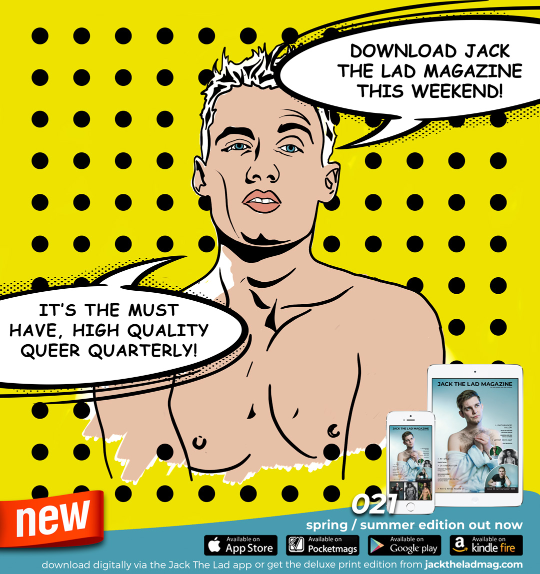 Theres not much to smile about in these days of self isolation, but we hope the brand new issue of Jack The Lad will help get you through it. 148 ad-free pages packed with awesome art, photography, interviews fashion & reviews available to download now via the Jack The Lad app.