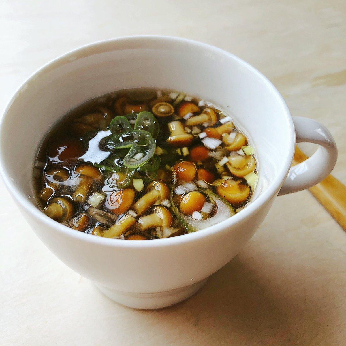 小粒なめこde中華スープ