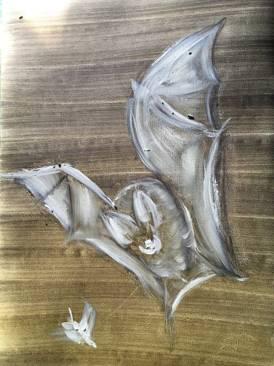 Looking back at some old #paintings and wondering if I can use some time creatively & work my way back to the same place ? #bats #horseshoepic.twitter.com/cy2BNjYvxD