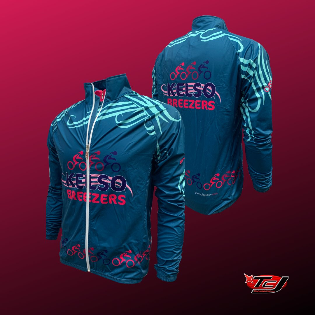 Kelso Breezers custom windcheeta jackets and jerseys! Check out those bright pink flashes of colour! #thecyclejersey #kelsobreezers #designyourown pic.twitter.com/qjyrDdQIcU