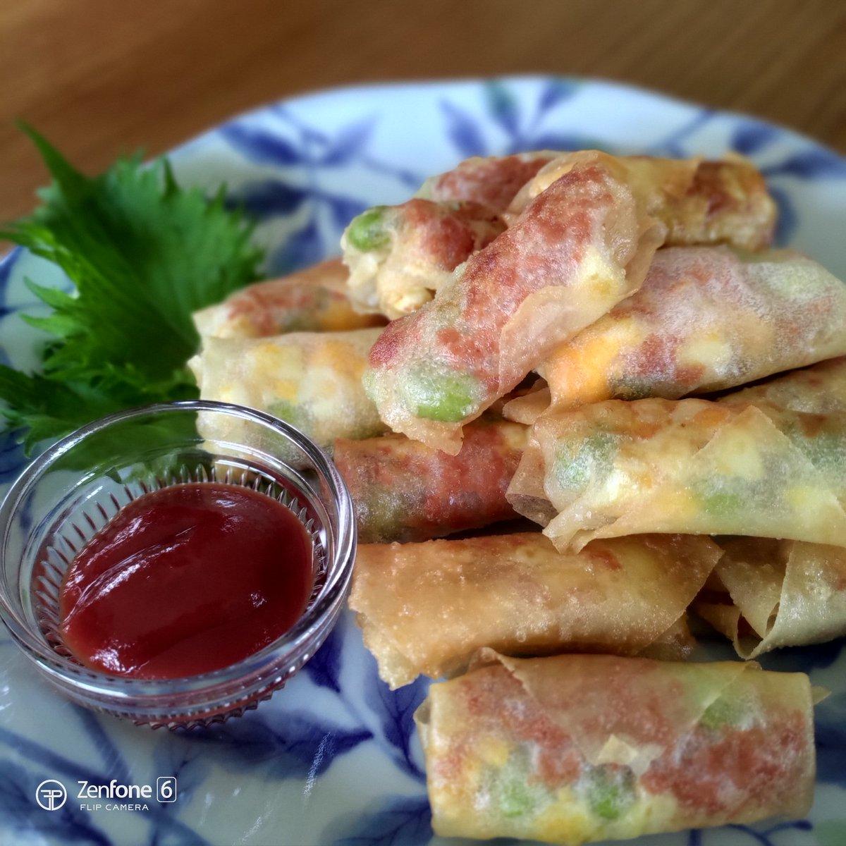 レシピ動画を撮り終えたので、ゆで卵と枝豆のミニ春巻きをいただきまーす! #ZenFone6 pic.twitter.com/5ky0eiLs0N
