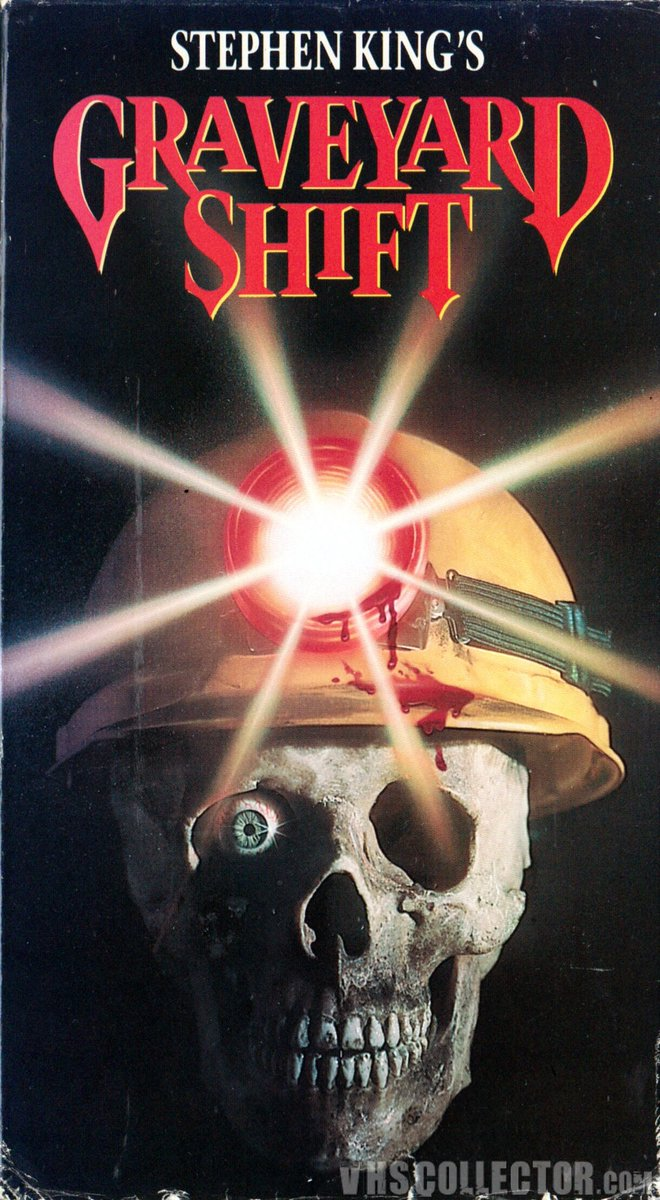 """#NowWatching Graveyard Shift directes in 1990 by Ralph S. Singleton   """"In a very old textile mill with a serious rat infestation, the workers discover a horrifying secret deep in the basement.""""  #TunisianFilmTwitterpic.twitter.com/D3jv8F0zi7"""