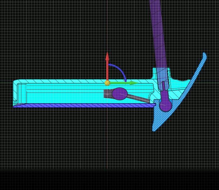 設計中の断面見ると、けっこうスペースがないのが分かりやすいですな。 #DesignSparkMechanical #3Dcad