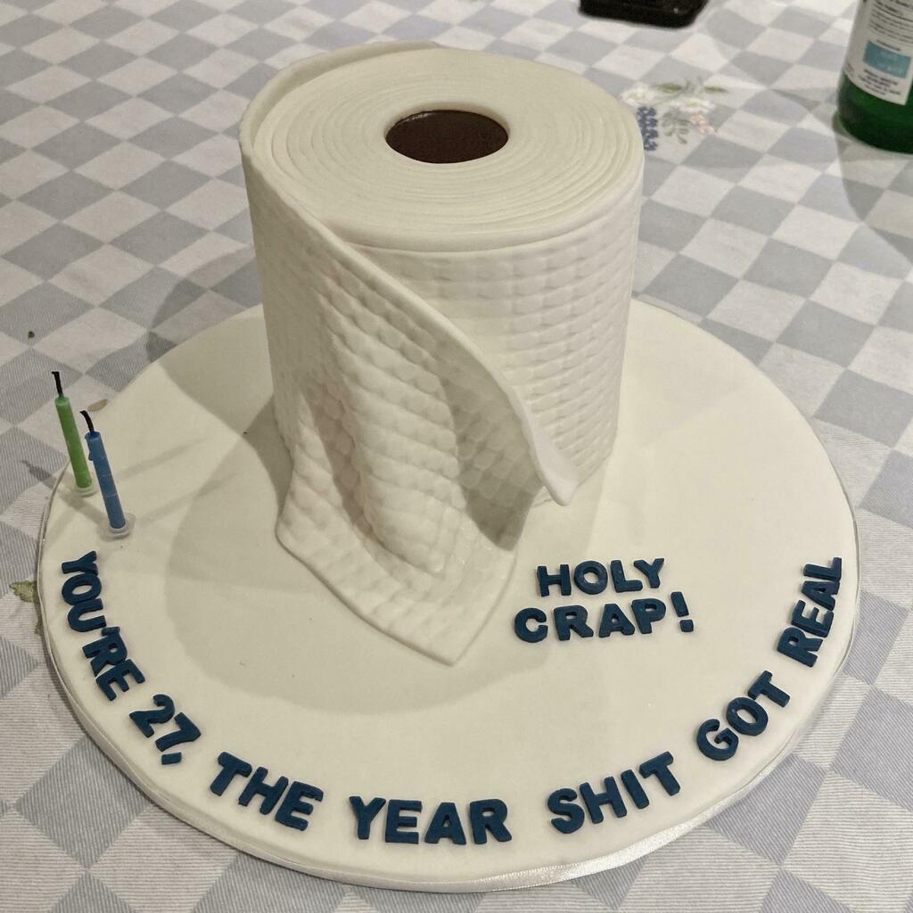 [I Ate] Toilet Paper Birthday Cake via /r/#foodporn