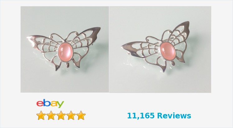 New 925 Sterling Silver Butterfly and Pink Mother of Pearl Butterfly Brooch | eBay #sterlingsilver #butterfly #brooch #pink #motherofpearl #handmade #jewellery #gifts #weddings #scarves #accessories #pretty #giftideas #giftsforher #gemstonejewelry