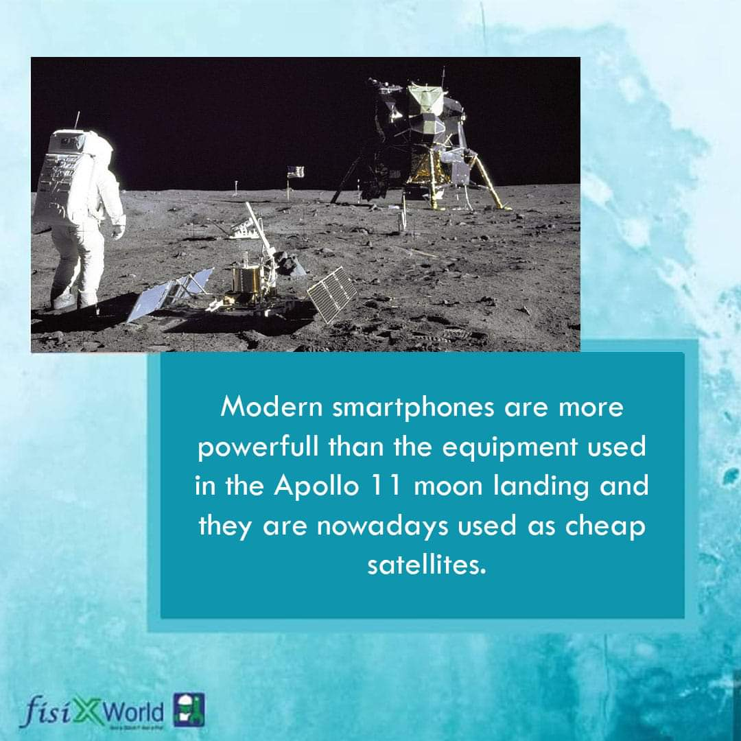 Modern Smartphones Are More Powerful Than The Equipment Used In The Apollo 11 Moon Landing And They Are Nowadays Used As Cheap Satellites.  #tech #techfacts #factsworld #fisixworld #technology #technews #techworld #techtime #techworld #didyouknow #apollo11 #smartphonespic.twitter.com/56zn5fU1tl