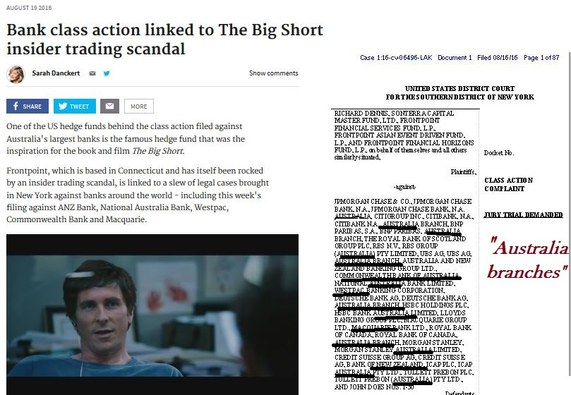 Maybe @TimWilsonMP should talk to Richard Dennis from #TheBigShort? Aussies in Tim's branch weren't happy the legal board under APRA's Ms Bennett was 'spying' on people who saw politicians, reporters, Medcraft's ASIC, and US law enf'mnt. pic.twitter.com/GXANTwvFr8