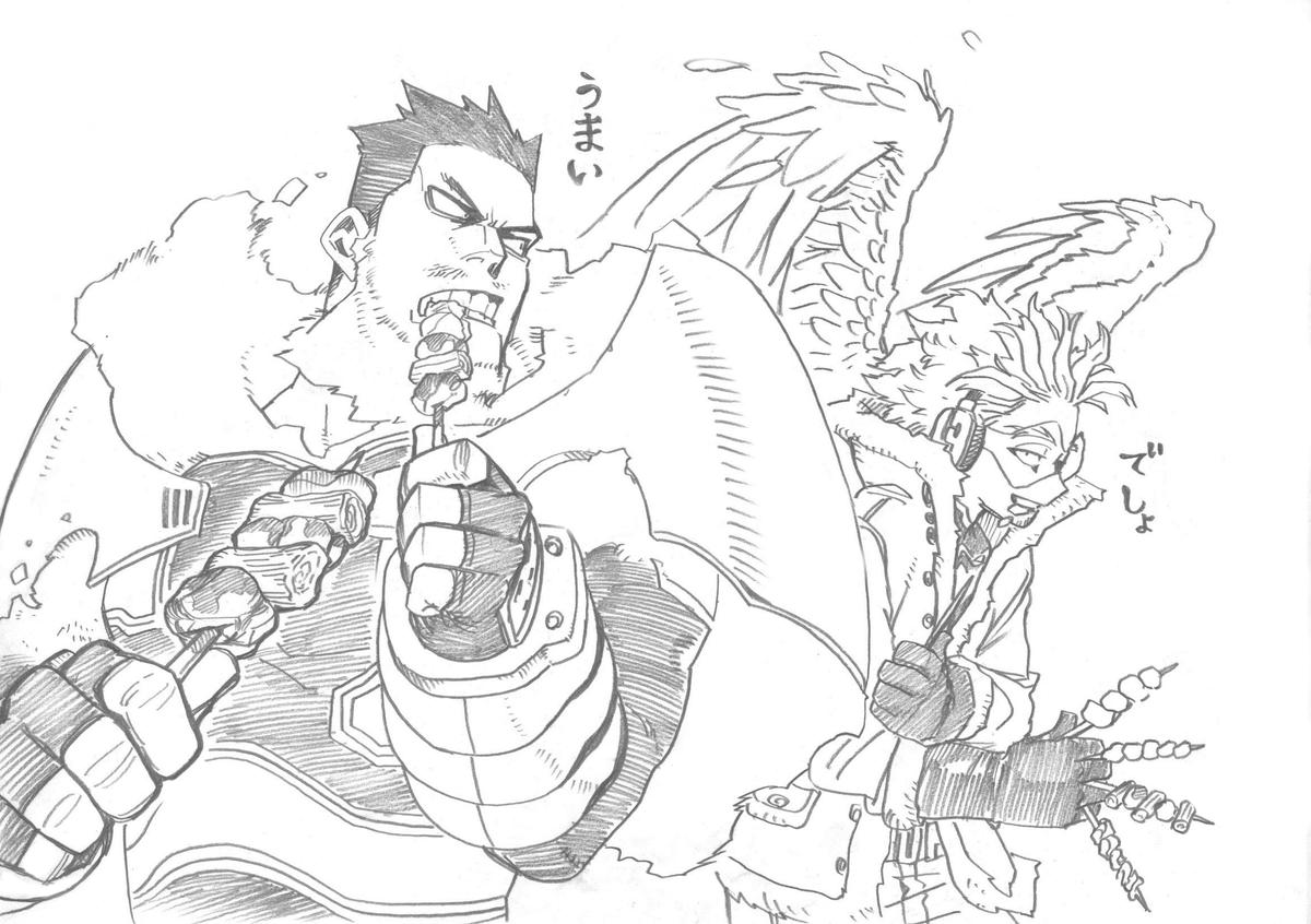 قام السيد كوهي هوريكوشي بنشر رسمة جديدة لأنمي #أكاديميتي_للأبطال وذلك احتفالًا بعرض الحلقة الأخيرة للموسم الرابع من الأنمي.
