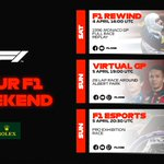 Here's what we've got planned this weekend. Hope you can join us!  #F1Rewind ⏪ #VirtualGP #F1Esports
