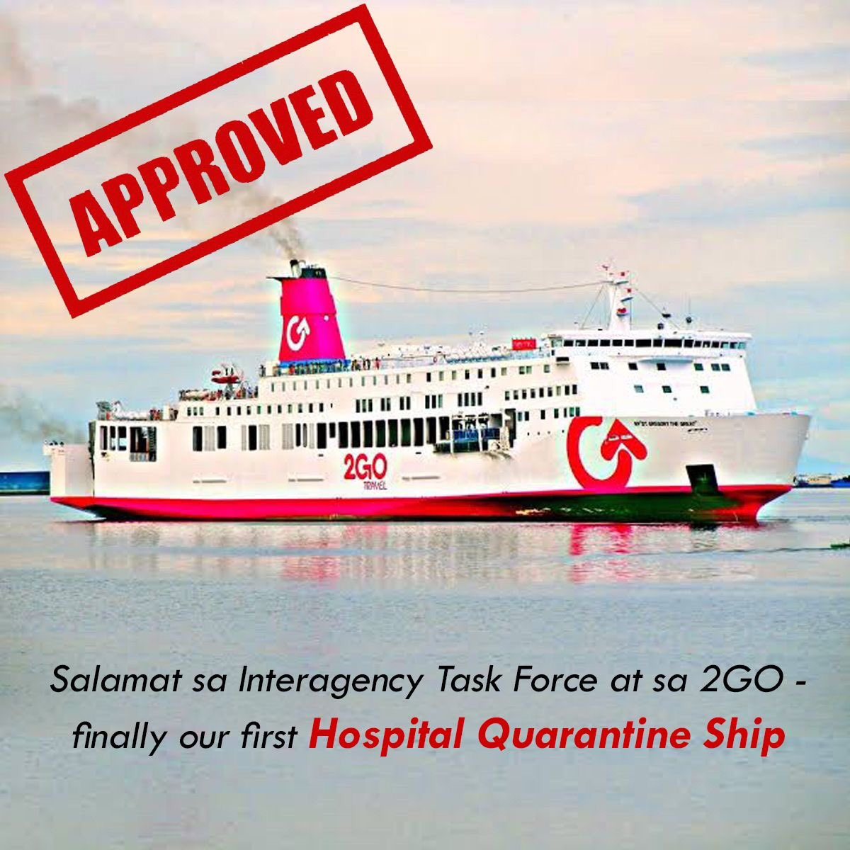 JUST IN: Sen. Francis Tolentino says the first hospital quarantine ship will dock in Port of Manila next week. | via @mavgonzales<br>http://pic.twitter.com/ilkwiqXxhn