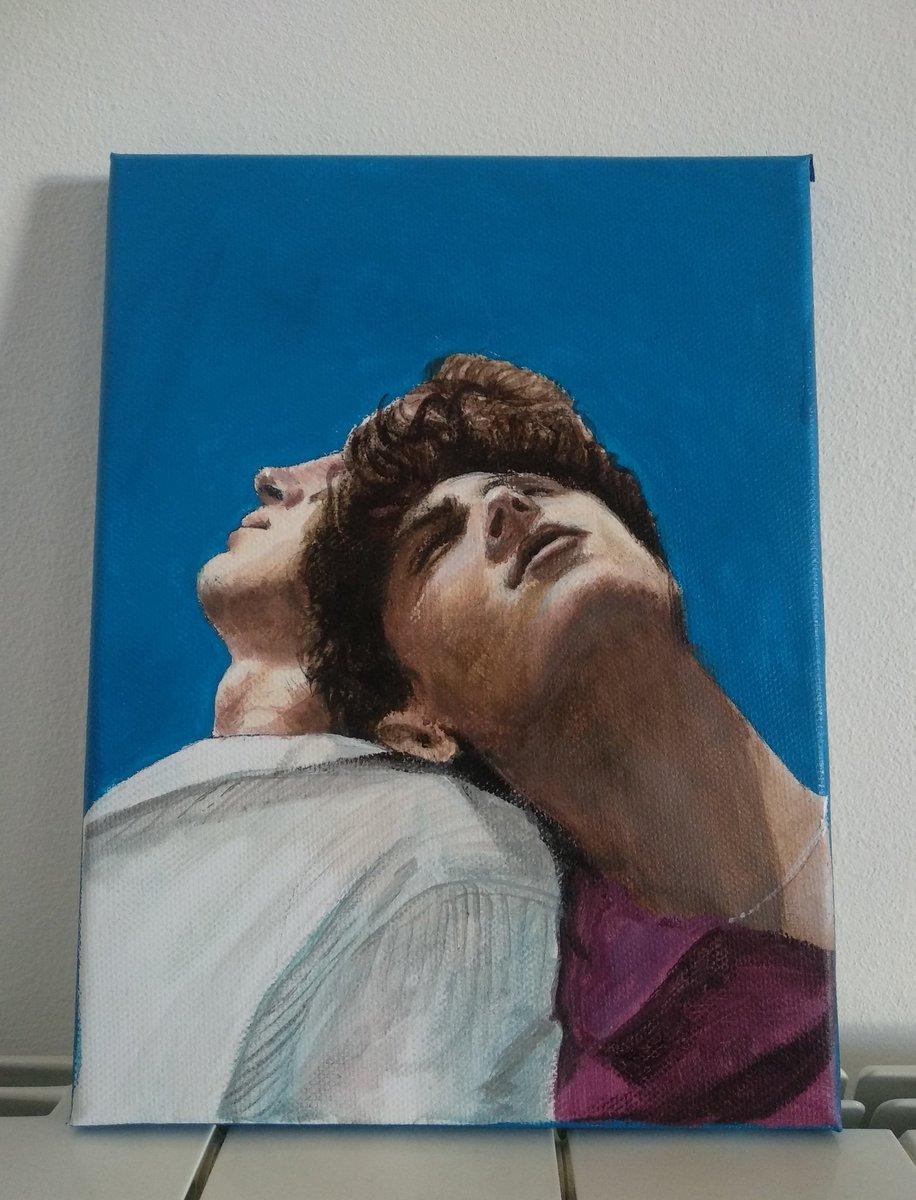 Demorei um dia inteiro a pintar este quadro, don't let it flop 👉🏻👈🏻