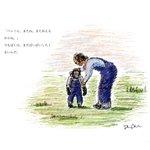 志村けんさん・パンくんの想いでの日「志村どうぶつ園のラスト」を描きました。