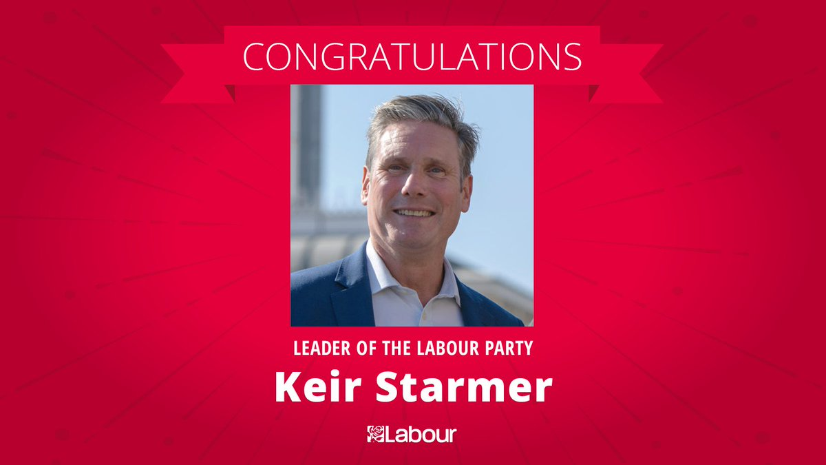 Congratulations to @Keir_Starmer, the new Leader of the Labour Party! #LabourLeadership