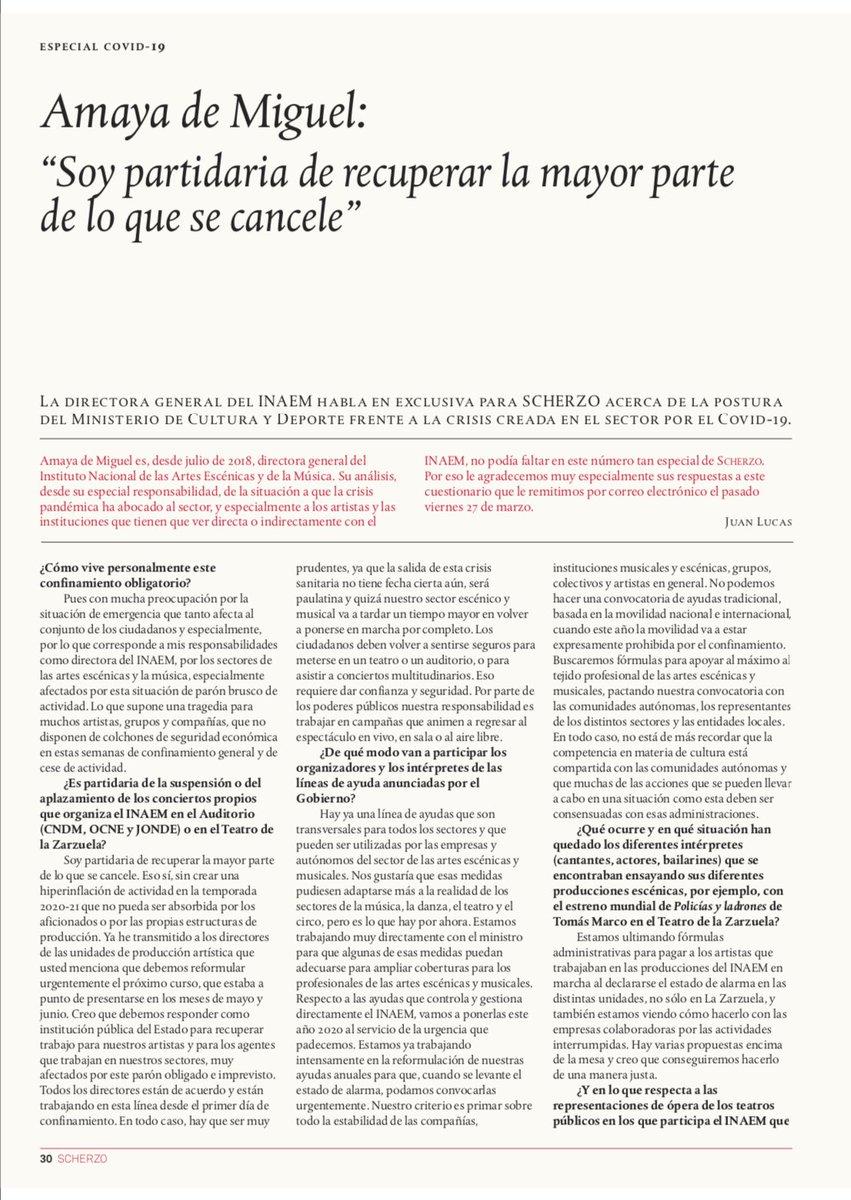 """""""Nuestra responsabilidad con nuestras unidades de producción es intensificar es intensificar la presencia de artistas españoles como fórmula de paliar, en lo posible, este parón de actividad"""" @INAEM_Cultura @MariaPages_ #centrocoreograficomariapages #danza  #cultura #Fuenlabrada"""