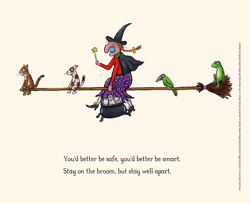 We hope you enjoy these reimagined images and verses from #JuliaDonaldson and #AxelScheffler most-loved books and characters in light of the current times we all find ourselves in #inthistogether #rhymesforthetimes