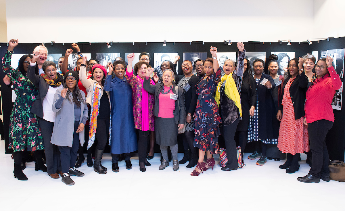 This one is of all the #Blackfemaleprofs who attended the private view of #PhenomenalWomen on Mon 9 Mar 2020 @Paul_Hastings  Photo: Elliott Franks  #Blackfemaleprofs #highered #BlackWomen  @OlivetteOtele @CynthiaPine3 @TAReynolds12<br>http://pic.twitter.com/c47QbbnaO5
