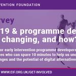 Image for the Tweet beginning: Calling #earlyintervention programme developers &