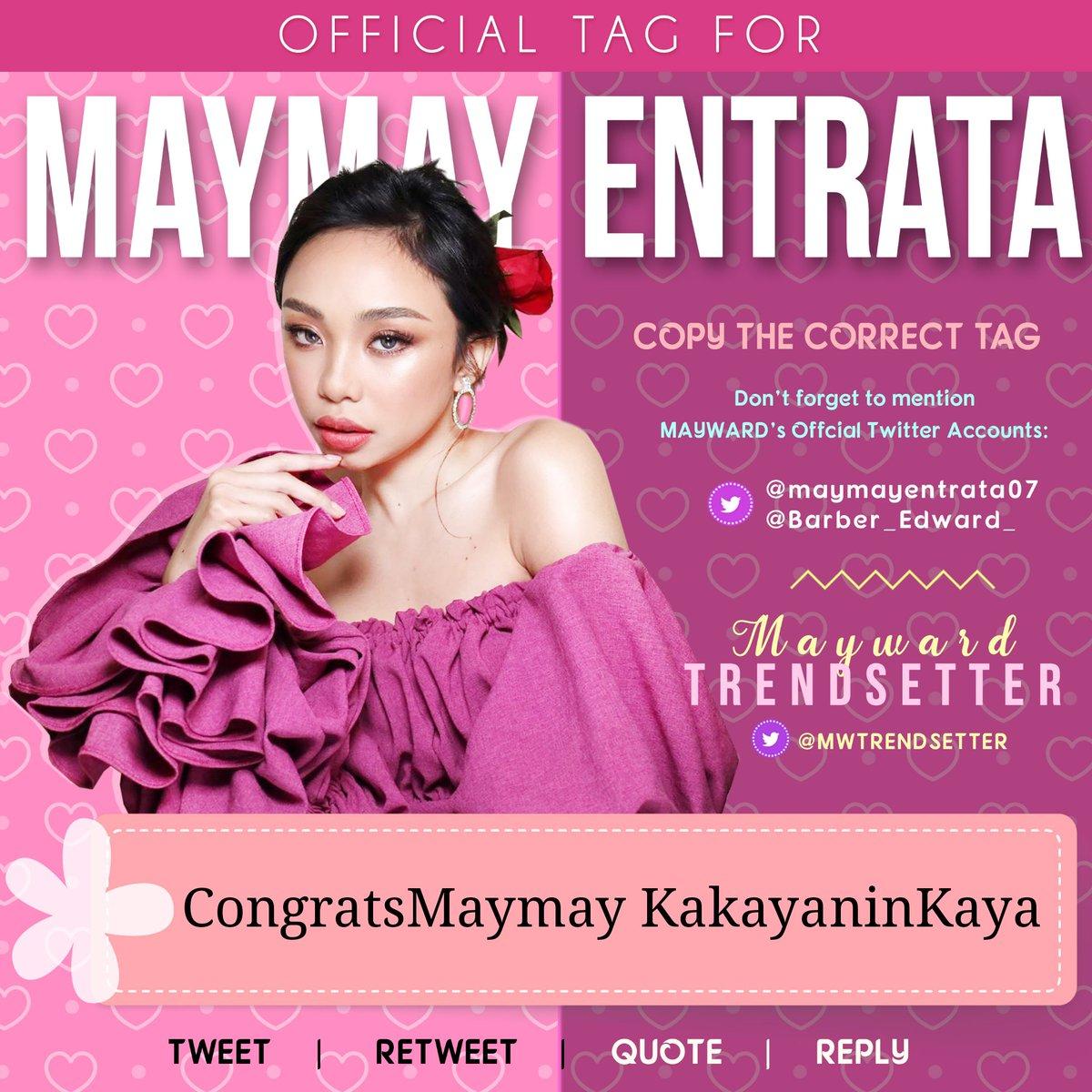 Celebrating the milestones of Kakayanin Kaya by Maymay Entrata - now with 3 Million Spotify Streams and 9 Million YouTube views! Congrats, Maymay!   @StarMusicPH @Starpopph  OFFICIAL TAG FOR MAYMAY:  CongratsMaymay KakayaninKaya  @maymayentrata07 @Barber_Edward_<br>http://pic.twitter.com/GYkxitzTJp
