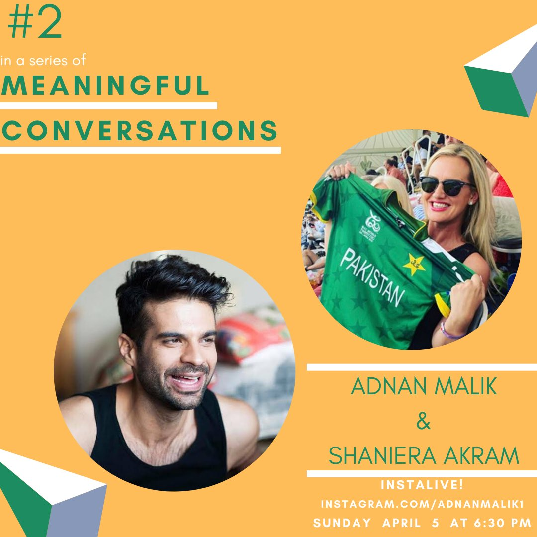 Choosing positivity: Big chats with this burst of Aussie sunshine @iamShaniera sunday 630 pm Pkst. on my insta!