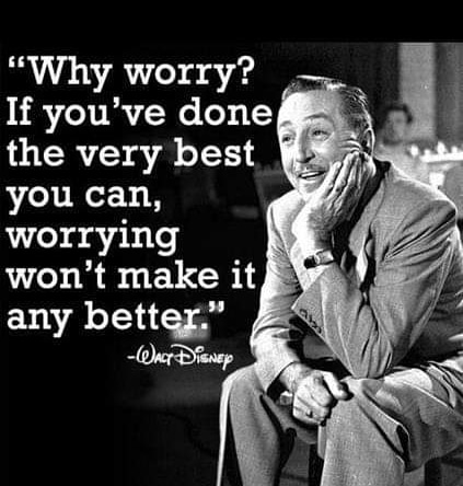 Why worry? If you did your very best worrying won't make it any better. #waltdisney #motivation #inspirationpic.twitter.com/WwnsTDrEU3