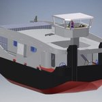 Image for the Tweet beginning: Fuel-Cell Pushboat to Run on