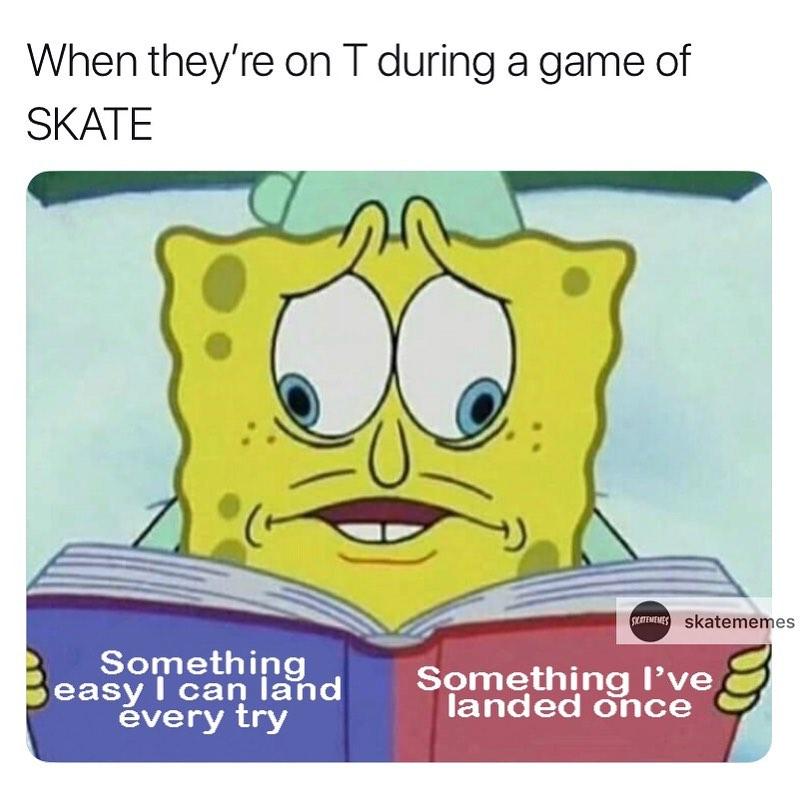 Which would you choose?  ( Comment below)  TOMORROW, SUNDAY APRIL 5th we have a HUGE GIVEAWAY coming for you guys  on our Instagram @skateobsessed  Mark the date!   via @skatememes   #skatememes #skatermemes #skate #skateboard #skateboardingisfunpic.twitter.com/kPTEmnh9V4