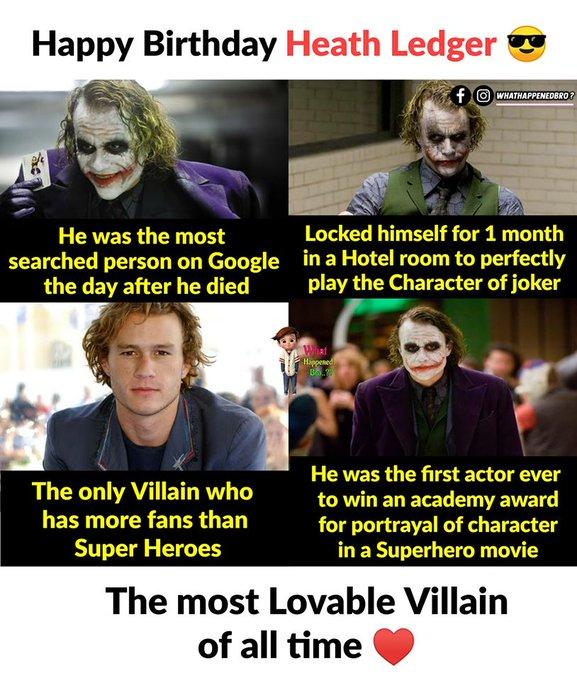 Happy Birthday Heath Ledger aka Joker