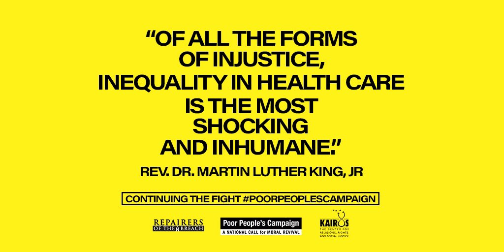 #poorpeoplescampaign on the anniversary of ML King's death