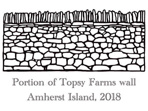 Daily drawings day 15 is @topsyfarms, built during the @drystonecanada festival in 2018. #quarantineart #stayhome #drystonewall #topsyfarms https://instagr.am/p/B-jsg72ARl1/ pic.twitter.com/UNpZ92nihD