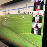Image for the Tweet beginning: Joukkueen videopalaveri käynnissä 💻📱 #vjs