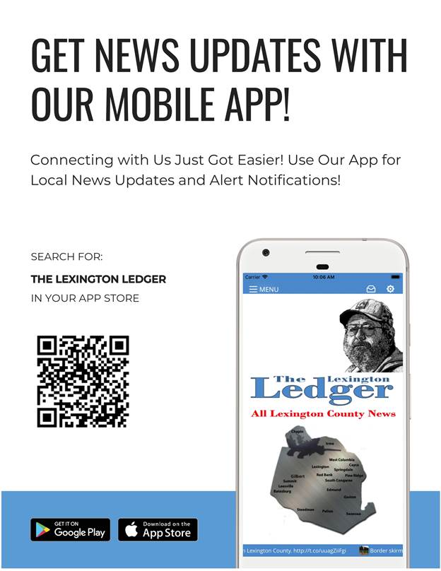 Download our new app today to stay up to date with all your Lexington County news! pic.twitter.com/5WSlvtY98O