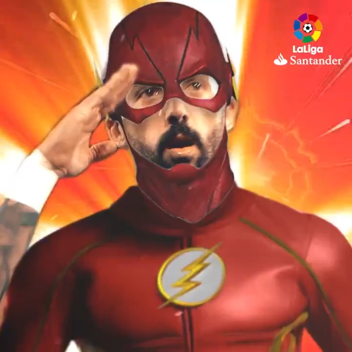 ⚡ @jose1987morales em modo The Flash. ⚡ 🔵 @LevanteUD 🔴 #LaLigaSantander