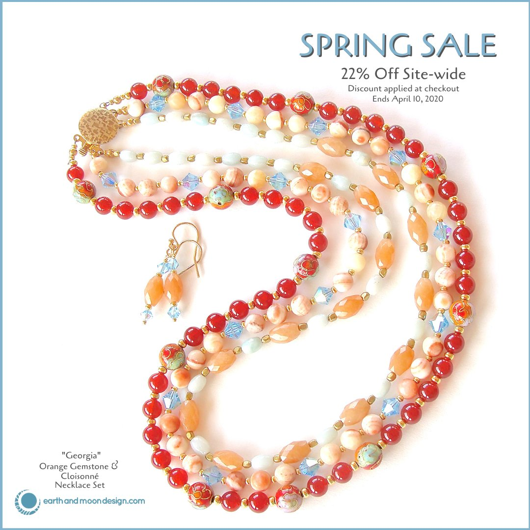 Spring arrivals are here. Brighten someone's day and Enjoy 22% Off Site-wide.  #springsale #springfashion #springlooks #freeusship #jewelrylovers #ooakhandcraftedjewelry #jewelrysale
