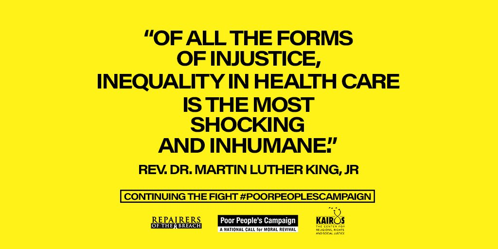 #PoorPeoplesCampaign remembering #MLK #COVID19 reveals the ongoing #injustice