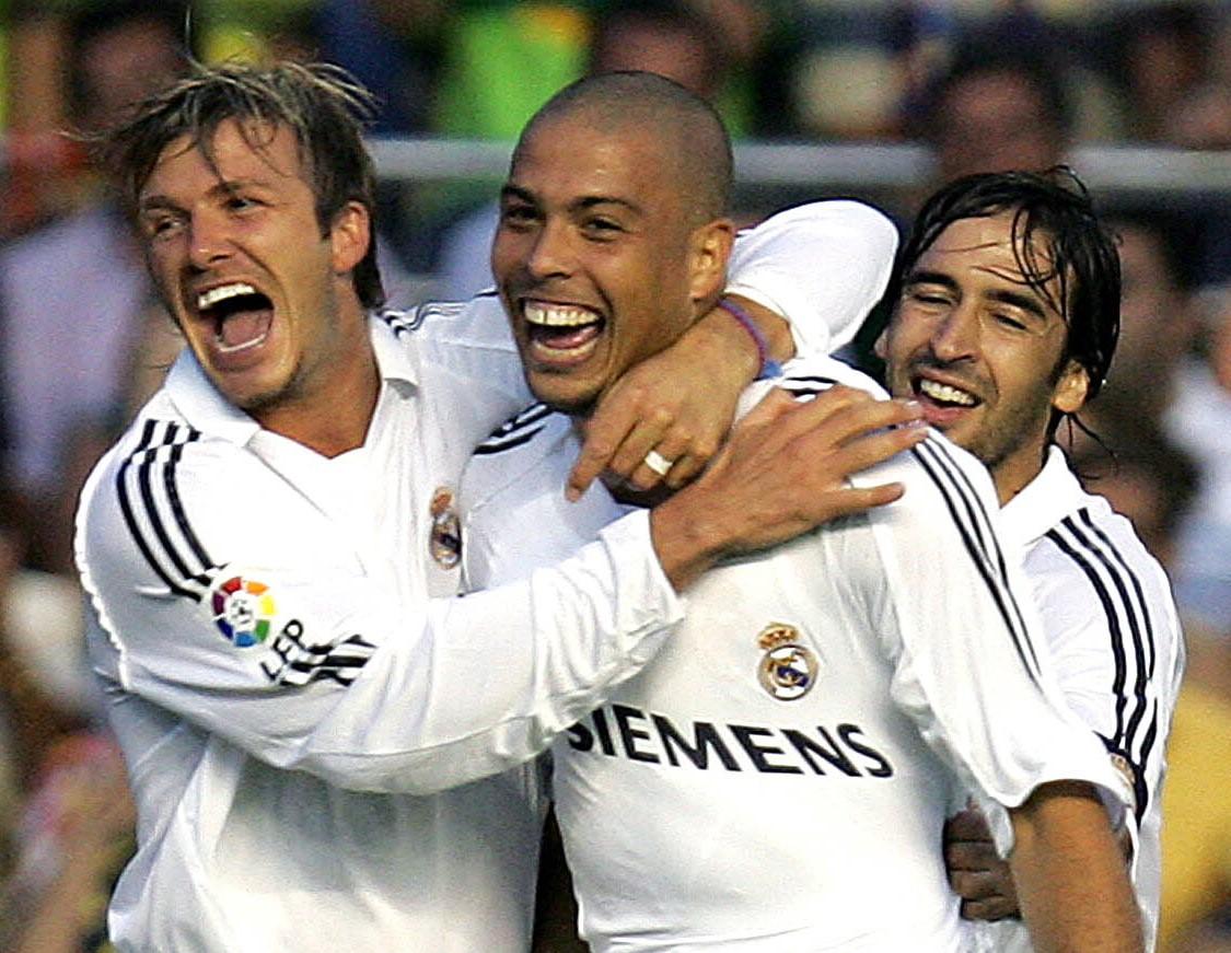 Saudade definida em uma imagem. ✨ Beckham 💜 @Ronaldo 💜 @RaulGonzalez #LaLigaSantander