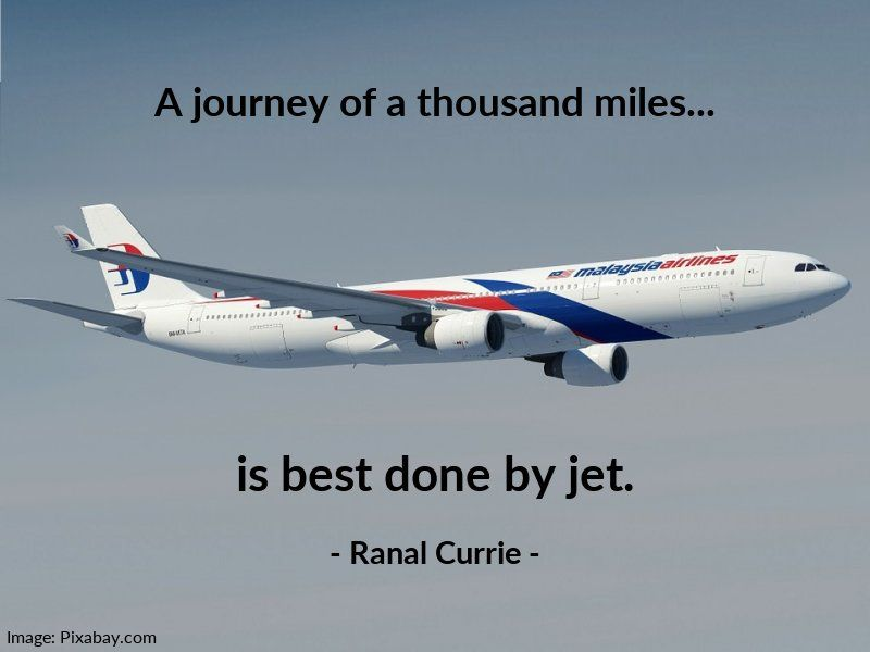 A journey of a thousand miles... is best done by jet.  #quote #trip #travel #jet #SaturdaySunshinepic.twitter.com/NJTxpZKLsO