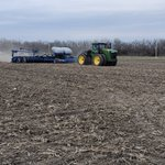 Image for the Tweet beginning: Glazik Farms planting beans Yesterday