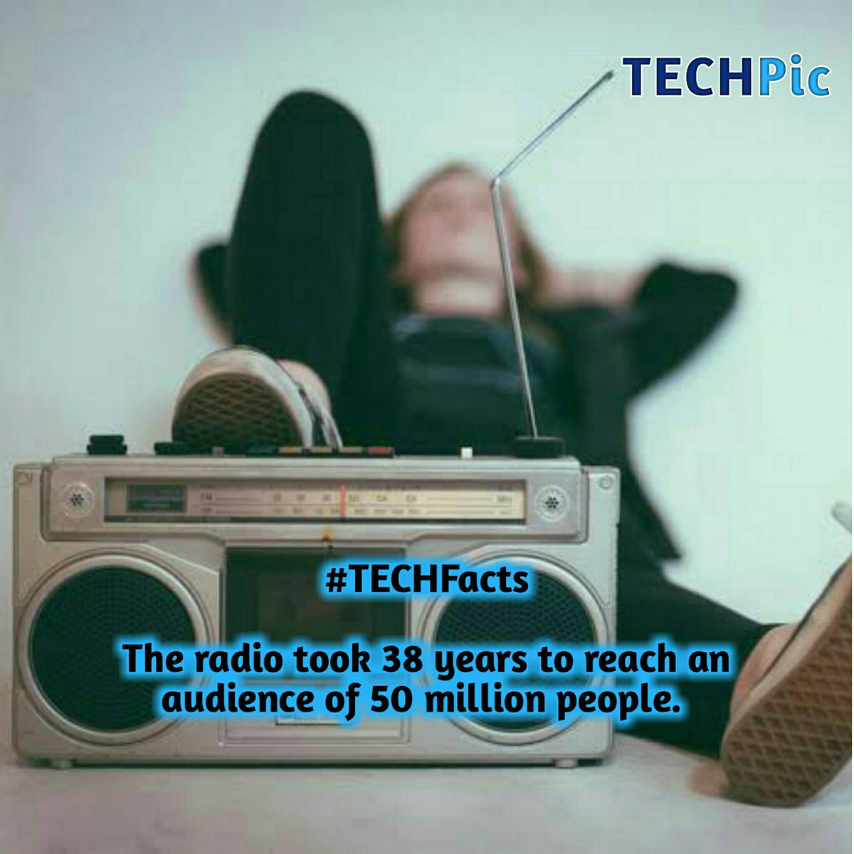 #TECHFacts  The radio took 38 years to reach an audience of 50 million people. pic.twitter.com/LRuOvYJJbv