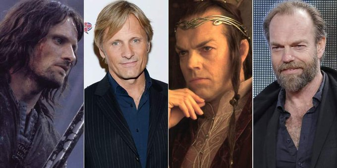 Happy Birthday to Hugo Weaving, who starred with Viggo Mortensen in the LOTR Trilogy
